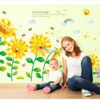 Decal dán tường Vườn hoa hướng dương