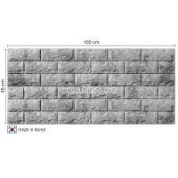 Xốp dán tường hàn quốc màu xám bạc (100x45)