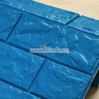 Decal dán tường Xốp dán tường màu xanh dương (KNZ)