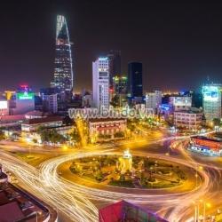 Tranh cảnh đêm Sài Gòn