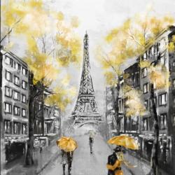 Tranh vẽ nghệ thuật thành phố Pari
