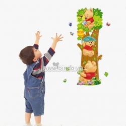 Decal dán tường Thước đo gấu pooh