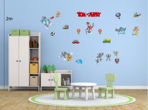 Decal dán tường Decal trang trí Tom and Jerry Số 2