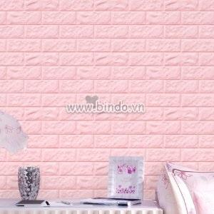 Decal dán tường Xốp dán tường màu hồng phấn