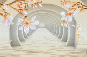Decal dán tường TRANH 3D TẠO CHIỀU SÂU