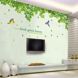Decal dán tường Giàn cây bóng mát