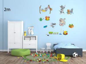 Decal dán tường Decal trang trí Tom and Jerry Số 1