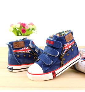 Giày vải cho bé trai màu xanh