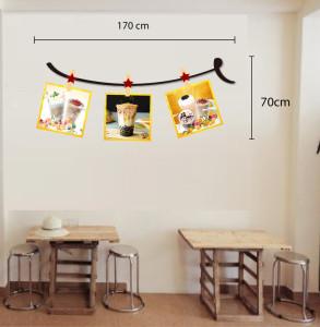 Decal dán tường Decal trang trí quán số 16