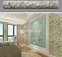 Decal dán tường Giấy decal  cuộn viên sỏi