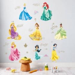 Decal dán tường 8 nàng công chúa