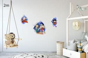 Decal dán tường Decal Songoku 3D