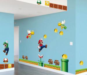 Decal dán tường Hoạt hình Mario 2