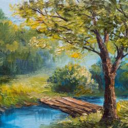Tranh vẽ cảnh rừng cây