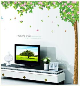 Decal dán tường Cây mùa xuân