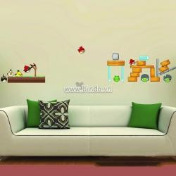Decal dán tường Angry Birds 2