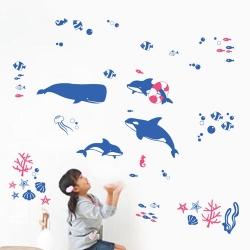 Decal dán tường Cá heo đại dương