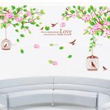 Decal dán tường Cành hoa tím