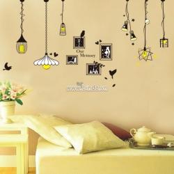 Decal dán tường Dây bóng đèn photo
