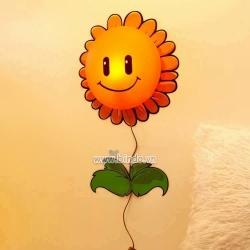 Decal dán tường Đèn ngủ hoa mặt trời (hoa hướng dương)
