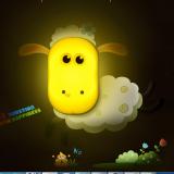 Decal dán tường Đèn ngủ cừu đáng yêu