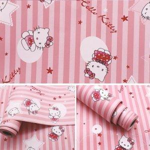 Giấy decal cuộn Kitty hồng 3