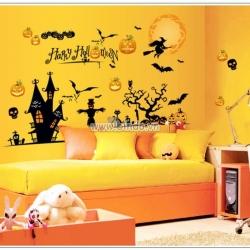 Decal dán tường Halloween 2
