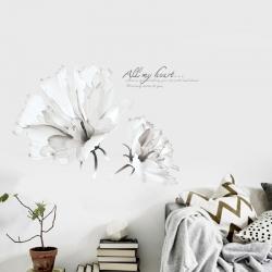 Decal dán tường Hoa ban trắng