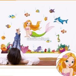 Decal dán tường Nàng tiên cá