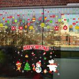 Decal dán tường Noel 102 - Dây treo quả châu trang trí và thú