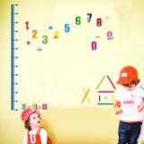Decal dán tường Thước đo chữ số