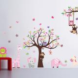 Decal dán tường Vườn thú to 8 hiệu Zooyoo