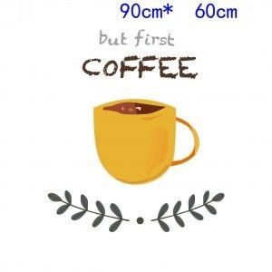 Decal dán tường Dán bếp tách cà phê