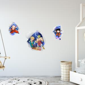 Decal dán tường Decal bảy viên ngọc rồng 3D (Dragon Ball 2019)