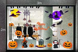 Decal dán tường Decal trang trí Halloween 2018 số 23
