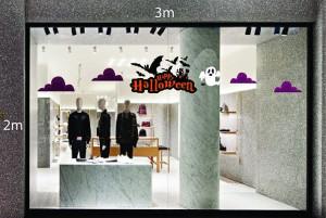 Decal dán tường Decal trang trí Halloween số 33