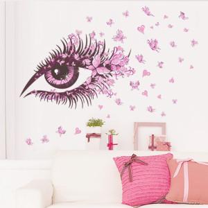 Decal dán tường Đôi mắt hồng