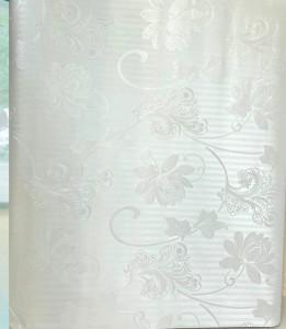 Giấy dán tường  có keo - Khổ lớn 1,2 mét Họa tiết hoa trắng phong cách châu âu