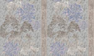 Giấy dán tường họa tiết   dây leo hoa xanh 2
