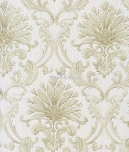 Giấy dán tường họa tiết hoa trắng vàng