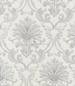 Giấy dán tường hoa tiết hoa trắng xám