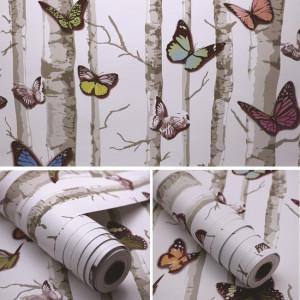 Giấy decal cuộn bươm bướm và cây khô