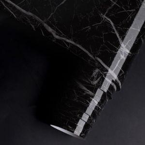 Giấy decal cuộn đá hoa cương  vân đen