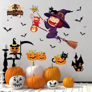 Decal dán tường Halloween 12