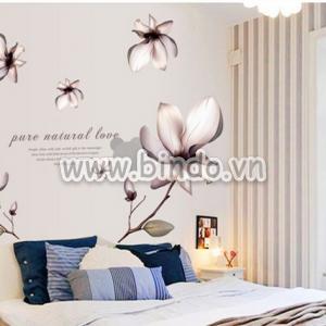 Decal dán tường Hoa lan trắng