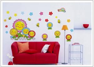 Decal dán tường Hoa mặt trời cười