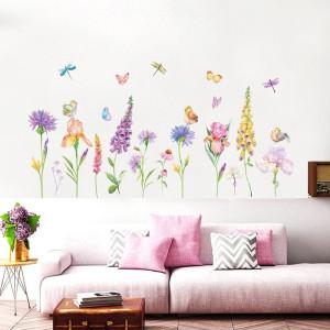 Decal dán tường Hoa  sắc màu