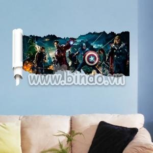 Decal dán tường Biệt đội siêu anh hùng
