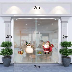 Decal dán tường Ông già Noel,người tuyết và túi quà