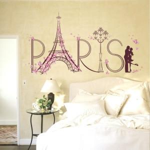 Decal dán tường Tháp hoa Paris